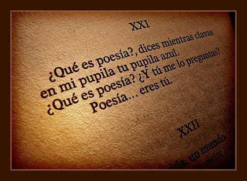 Poesía eres tú...